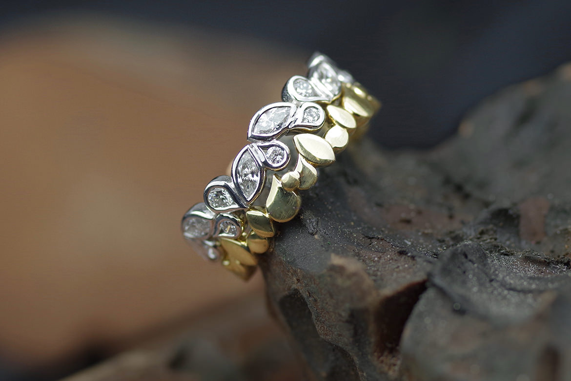 Marquise Dot Ring